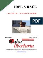 Daniel Barret - De Fidel a Raul= la Cuba de los politicastros. Ediciones Cuba Libertaria. París, 2009. 43 p.pdf