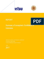 Ionospheric Scintillation in Indonesia by Teknik Geodesi UGM join Komatsu