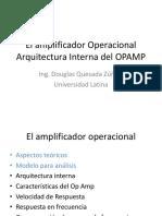 El Amplificador Operacional Arquitectura Interna
