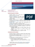 Coagulation - Flocculation Theory
