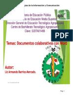 documentos colaborativos word compartir