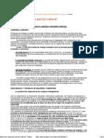 Resumen Segundo Parcial Laboral. Trabajo (Elementos Del Derecho Del Trabajo y de La Seguridad Social) de Abogacía. UBA