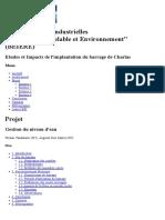 Gestion Du Niveau d'Eau___Etudes Et Impacts de l'Implantation Du Barrage de Charlas