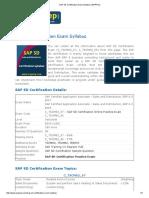 SAP SD Certification Exam Syllabus _ ERPPrep