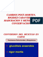 Cambios Post-morten, Rigidez Cadaverica, Maduracion, - Copia