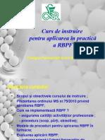 Curs de Instruire Pentru Aplicarea RBPF