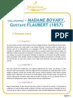 Flaubert - Madame Bovary Résumé Digischool