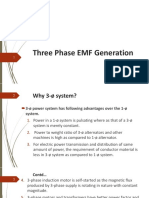 Three Phase EMF Generation