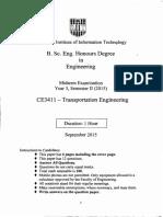 Transportation Engineering -CE 3411-2015