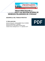 Trabajo Práctico No. 2 Procedimiento de Gestión Interna de Residuos Peligrosos de Cyrogas