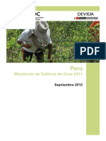1 Perú Monitoreo de Cultivo de Coca 2011