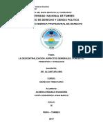 Descentralizacion , Aspectos Generales Principios. Grupo 6