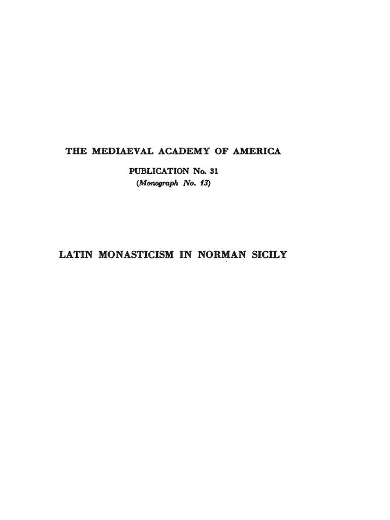 White 1938 Latin Monasticism In Norman Sicily De La Pgina Cesar Flores On Gfci Internal Wiring Diagram
