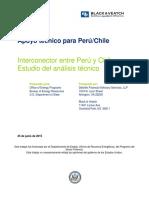 Interconexión Entre Perú y Chile - Estudio Del Análisis Técnico