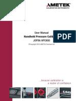 Ametek Jofra HPC600 Pressure Calibrator User Manual