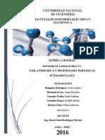 Informe de Laboratorio N2 Quimica General