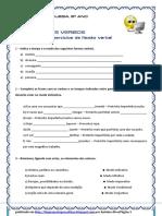 Verbos - Exercícios Flexão Verbal Tudo (Blog8 10-11)