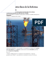 Los 25 Puntos Finos de La Reforma Energética
