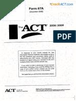 Practice Test 5 Form 5MC 080662