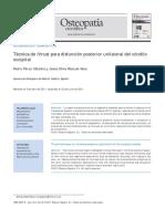 2011 Técnica de thrust para disfunción posterior unilateral del cóndilo occipital