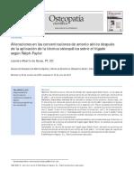 2011 Alteraciones en las concentraciones de amonio sérico después de la aplicación de la técnica osteopática sobre el hígado según Ralph-Faylor