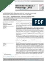 Epidemiología de Las Hospitalizaciones Por Tuberculosis en España