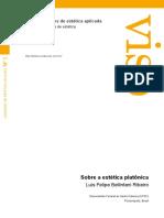 Revista Viso - Caderno de Estética Aplicada. Luis Filipe Ribeiro. Estética Platonica.