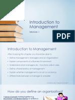 Introduction to Management - Module 1_Jul'17