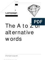 Alternative Word Dictionary