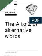 Alternative Word Dictionary