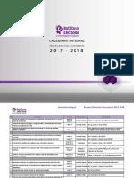Calendario Integral 2017-2018