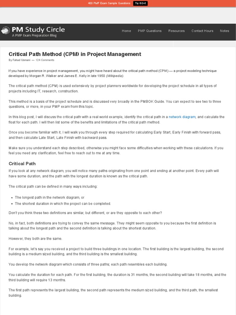 Critical path method cpm in project management systems science critical path method cpm in project management systems science projects ccuart Image collections