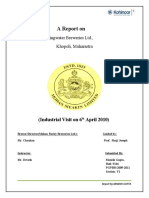 A Report on Mohan Brewaries Lt.