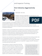 API 1169 - Pipeline Industry Aggressively Moves Forward