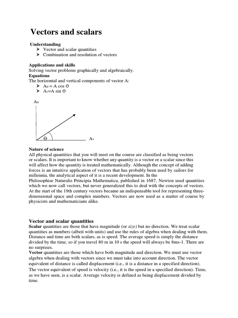 Lecture Vectors And Scalars Euclidean Vector Velocity
