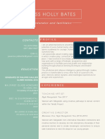 Jess Holly Bates Educator and Facilitator Resume