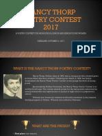 Nancy Thorp Poetry Contest 2017