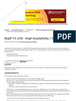 BigIP F5 LTM - High Availability _ DSC (v11