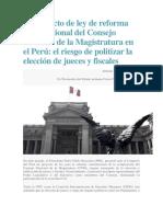 Analisis de El Proyecto de Ley de Reforma Constitucional Del CNM 2