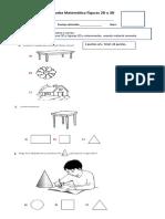 Prueba Matemática Figuras 2D y 3D