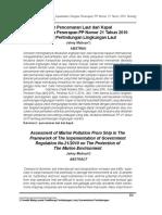 Kajian Pencemaran Laut dari Kapaldalam Rangka Penerapan PP Nomor 21 Tahun 2010 Tentang.pdf