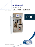 9245 Single Channel on-line Sodium Analyzer-Operator Manual