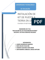 Kit de Puesta a Tierra en Un Rack