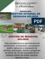 Asig. Gestion Integral de Residuos Sólidos