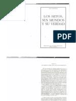 Luis Cencillo-Los Mitos, Sus Mundos y Su Verdad