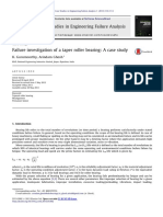 Failure Investigation of a Taper Roller Bearing, A Case Study