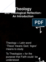 1. Theology and Theological Reflection
