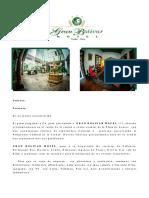 Tarifario Confidencial Agencias de Viajes 2017 - 2018