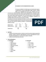 Reacciones Quimicas y Ley de Conservacion de La Masa