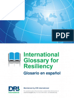 International Glossary for Resiliency